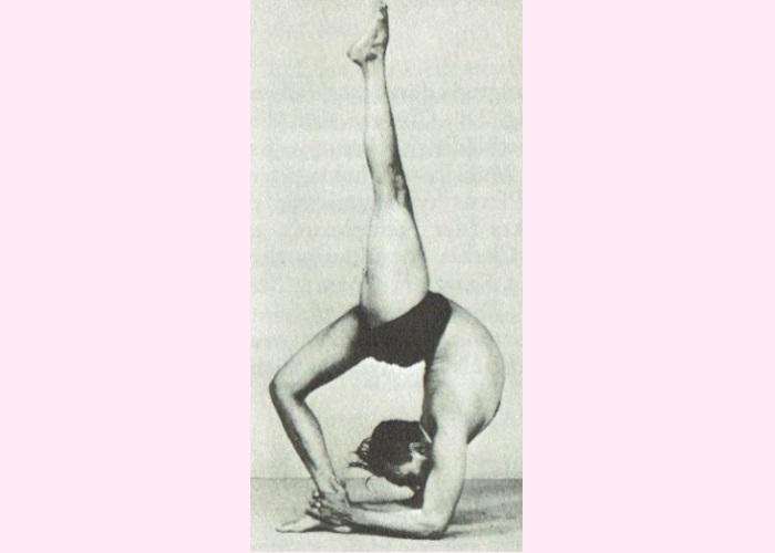 Eka Pada Viparita Dandasana-B.K.S. Iyengar