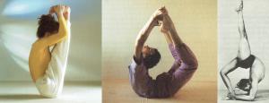 Collage de imágenes de las fotos de la exposición Yoga online.