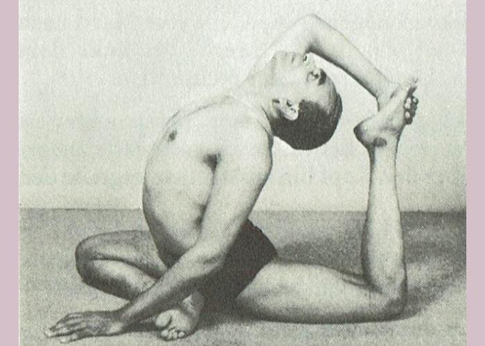 Eka Pada Rajakapotasana-B.K.S. Iyengar